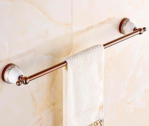 USDFJN Handtuchhalter Badetuchstange Schrank Wandmontierte Badezimmer Duschablage Lagerung Veranstalter Die Bäder EIN im Europäischen Stil klicken Sie Bettwäsche Rose Gold 63 * 9 cm