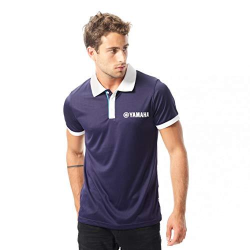 Yamaha Herren Poloshirt Blau blau L Gr. L, blau