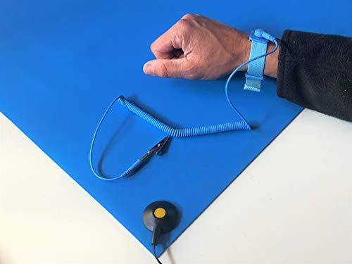 ELEKTRON   ESD Tischmatte   Glatt   2,4mm hoch (60cm x 150cm, Blau)