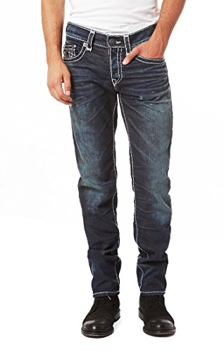 True Religion Men's Ricky Relaxed-Fit Straight-Leg Jean in Dry Brush, 28
