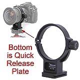 iShoot 全金属のリング式三脚座、レンズサポート襟、三脚マウントリング for ニコン Nikon PC NIKKOR 19mm F4E ED ティルトシフトレンズ, クイックリリースプレート付き、ARCA-SWISS、PMGタイプの三脚雲台/ボールヘッドクランプ を対応