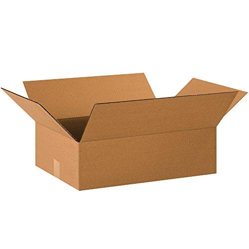 "BOX USA B20146 Flat Corrugated Boxes, 20""L x 14""W x 6""H, Kraft (Pack of 25)"
