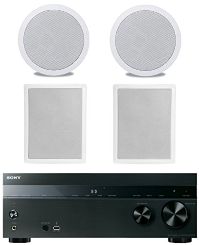 Fantastic Deal! Sony 5.2-Channel 725-Watt 4K A/V Home Theater Receiver + Polk Easy-to-Install High-P...