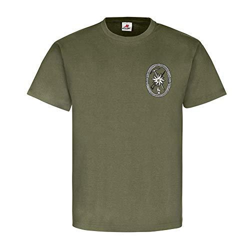 Gebirgsjäger allgemein GebJg Edelweiß Gams Wappen Abzeichen - T Shirt #18520, Farbe:Oliv, Größe:Herren L