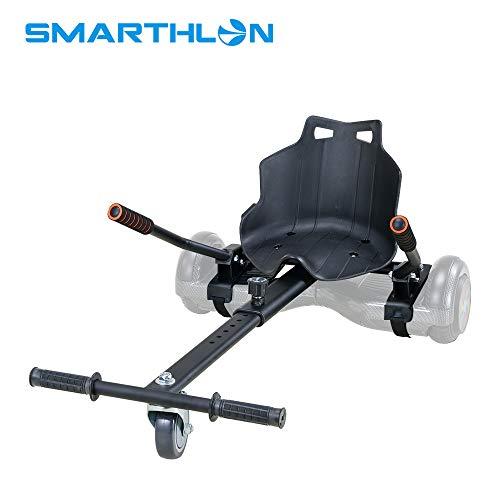 Smarthlon Hoverkart Go Kart Hover Sitz Roller kompatibel mit 6,5, 8, 10 Zoll (Schwarz)