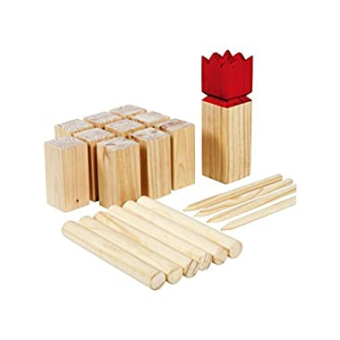 SPORT BEATS Wooden Kubb Set Premium Yard Games