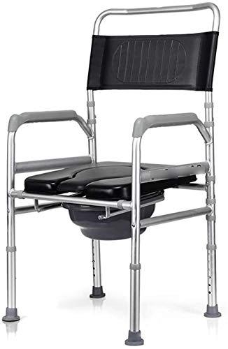 HMMN El Inodoro de aleación de Aluminio con Ruedas, Puede Mover y Doblar el baño, Adecuado para Mujeres Embarazadas con discapacidades ancianas