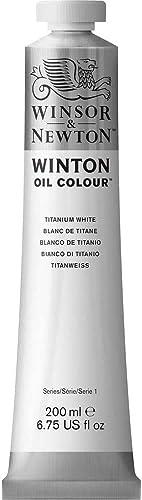 high quality Winsor high quality & popular Newton 1437644 Winton Oil Color Paint, 200-ml Tube, Titanium White (1-Pack) sale