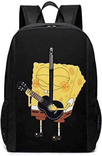 DJNGN Rucksack 17 Zoll, SP-O_NGE-B-OB Gitarre Spielen Große Laptoptasche Travel Hiking Daypack für Männer Frauen Schularbeiten