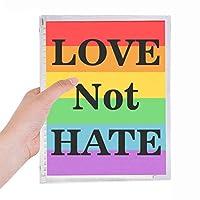 トランスジェンダーのバイセクシャルの愛は憎しみではなく 硬質プラスチックルーズリーフノートノート