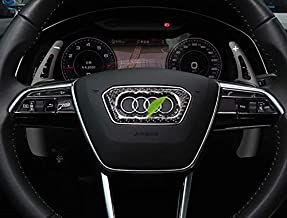 OP Steering Wheel Paddle Shifter Extensions Cover for Audi A3 A4L A5 A8 SQ5 Q7 TT TTS (Black)