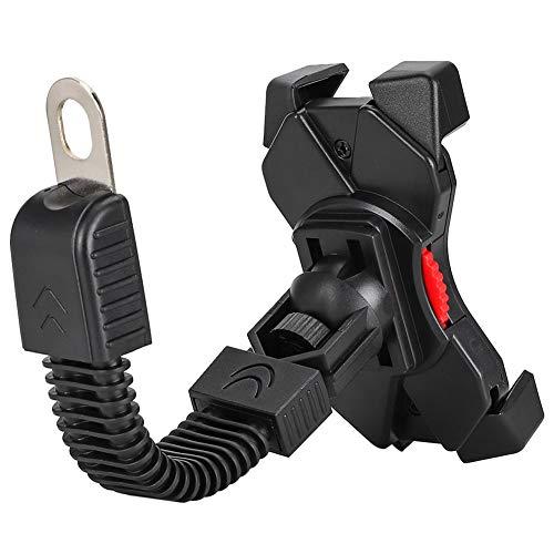 Telefoonstandaard, 360˚ rotatie Universele telefoonhouder Schokbestendig Zwart voor motor voor stuur