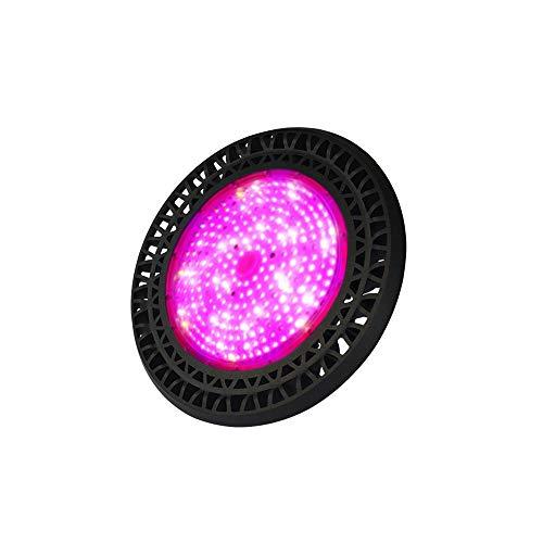 LYDQ 200W UFO LED Pflanzenlampe UV Glühbirne IP65 Wasserdicht Vollspektrum Wachstumslampe Pflanzen 120° Strahl Ausbreitung Für Zimmerpflanzen Hydroponische, Blumen, Gemüse(266Pcs 3030 SMD)