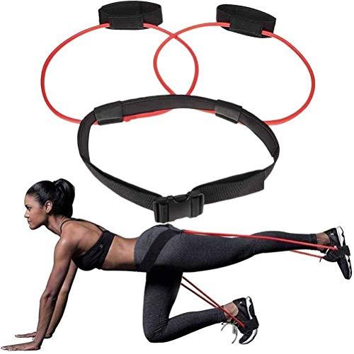 YUJIAN Bandas de resistencia para el botín, bandas ajustables con cinturón de cintura, equipo de entrenamiento para el gimnasio en casa, bandas elásticas con anclaje para puerta