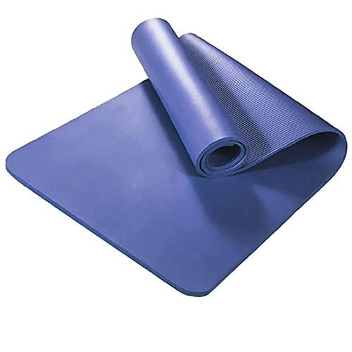 BANLV Colchoneta de Yoga de 1830 * 610 mm con colchoneta de Fitness Antideslizante, Adecuada para Ejercicios de Gimnasia 1830X610X8mm Azul