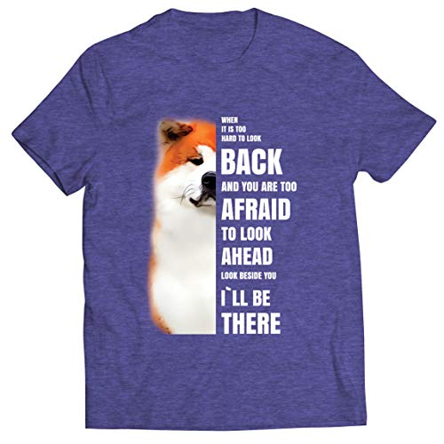 lepni.me Camisetas Hombre Will be There for You Motivational Akita Inu Dog Lover Gift (XL Brezo Azul Multicolor)