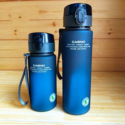 Botella deportiva a prueba de caídas, tapa abatible con un botón, con bloqueo de seguridad y filtro de bebidas, apto para adultos y niños, gimnasio, senderismo, bicicleta 400 ml, 560 ml