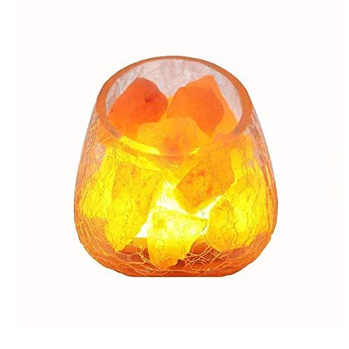 LLLKKK Luz de noche Cristal Sal Mineral Sal Pequeña Lámpara de Mesa Dormitorio Cabecero Dimmer Switch