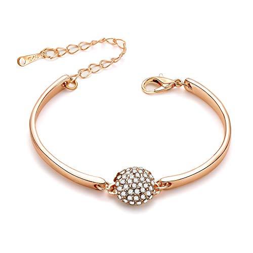 weimay 1pieza Mode Creatividad estilo pulsera para mujer Wild semicírculo completa broca aleación joyas ( Oro )