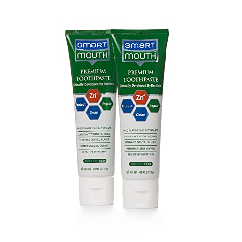 SmartMouth Premium Toothpaste for Elite Oral Health Protection, 6 oz Each, 2 Pack