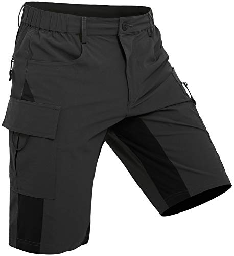 Wespornow Men's-Hiking-Shorts Lightweight-Quick-Dry-Outdoor-Cargo-Casual-Shorts for Hiking, Camping, Travel, Fishing Black