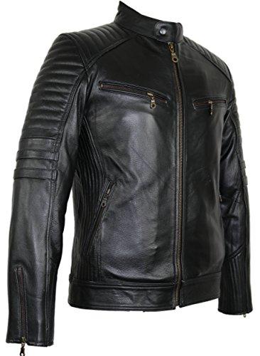 Motorrad Lederjacke aus robustem Rindleder (M)