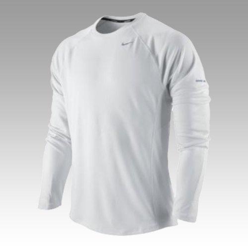 NIKE Miler UV, Camiseta de running para hombre, Blanco (White/White), XXXL