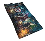 Mar-vel DC Series Fashion Camping Hand Towels, Quick-Drying Super Absorbent Soft Hand Towel Microfiber Towel32×16 (40cm×80cm) inches (Aven-gers 6)