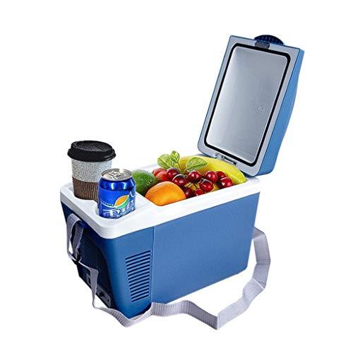 Tragbare Thermo-Elektrische Kühlbox Mini Car Kühlschrank, Bier Kühlschrank, Auto-Haus Dual-Use, Hot und Cold-Box for Kursteilnehmer im Freien Picknick-7L