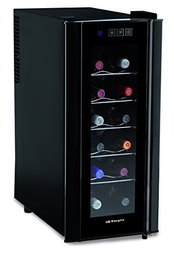 Orbegozo VT 1200 Vinoteca de 12 botellas con display digital, 70 W, Metal, Negro