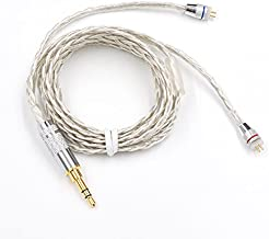 KZ Upgraded 2 Pin Silver Plate Replacement Cable for KZ ZS3 ZS4 ZS5 ZS6 Quad Driver Earphones Headset Braided Silver Plated Wire Upgrade Earphone Cable 0.75mm Pin DIY Detachable Audio Cord