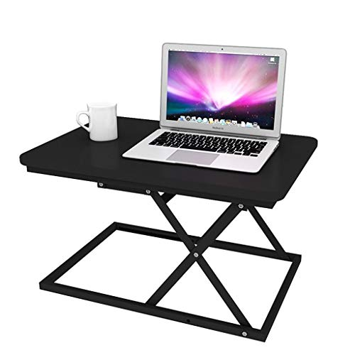 WNN-T Folding Laptop Desk Adjustable Computer Table Stand Tray, Stand-Up Notebook Mobile Workbench, Sitting and Standing Alternate Office Stand T