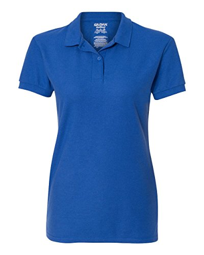 Gildan Womens DryBlend 6.3 oz. Double Piqué Sport Shirt G728L -ROYAL M