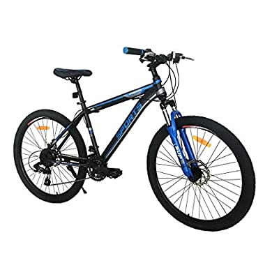 Mountain Bike - 26 Inch Adults Mountain Trail Bike High Carbon Steel Bold Suspension Frame Bicycles 21 Speed ??Gears Disc Brakes Mountain Bicycle