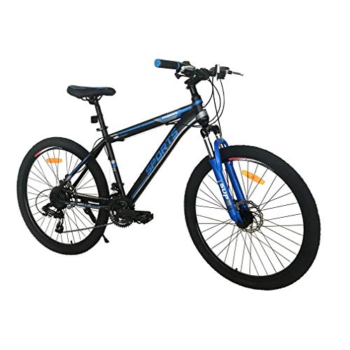 Mountain Bike - 26 Inch Adults Mountain Trail Bike High Carbon Steel Bold Suspension Frame Bicycles 21 Speed ​​Gears Disc Brakes Mountain Bicycle
