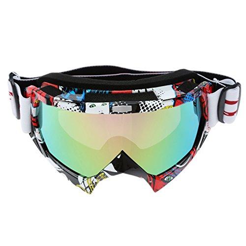 MUXSAM Lunettes de Soleil Lunettes de Protection Casque Steampunk Vintage Goggles pour Les Sports de Plein air-Multicolore