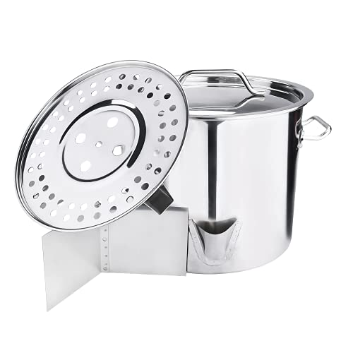 ARC 24QT Stainless Steel Steamer Pot Tamale Steamer Pot with...
