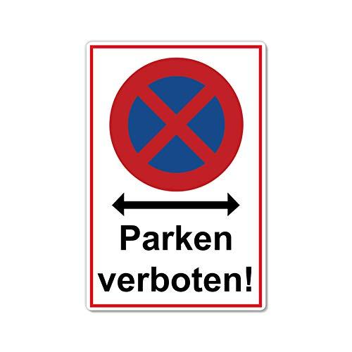 Absolutes halteverbot Parken verboten Schild 20 x 30 cm aus Stabiler PVC Hartschaumplatte 3mm Parkplatzschild mit UV-Schutz von STROBO