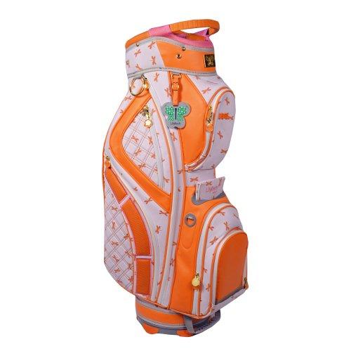 LilyBeth Golf Cart Bag, Orange Dragonfly