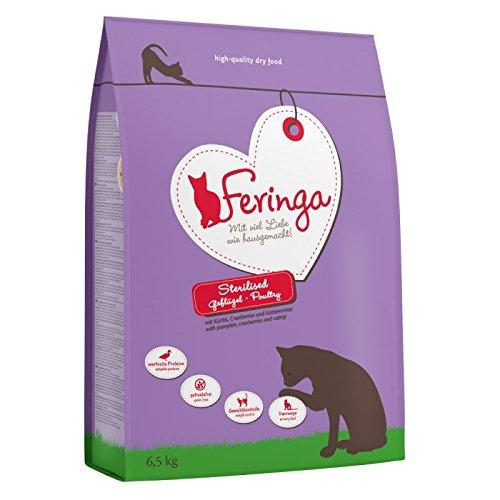 Feringa Katzennahrung Geflügel - Ganzes und Getreidefrei - Sparpaket 2X 6,5 kg - hilft sterilisiert Katze EIN ideales Gewicht zu erhalten