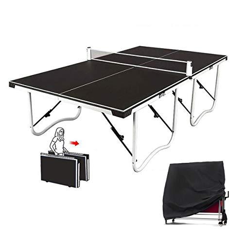 Stoge 2020 Faltbar Tischtennisplatt Outdoor/Innen, Tischtennisplatte Mit Netzset, Schnellmontage-Tennistischset Für Spielspaß Mit Familie Und Freunden