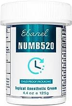 Ebanel 5% Lidocaine Topical Numbing Cream Maximum Strength, 4.4 Oz Pain Relief Cream Anesthetic Cream Infused with Aloe Vera, Vitamin E, Lecithin, Allantoin, Secured with Child Resistant Cap