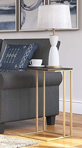 Serta Harton C-Table, Black & Gold