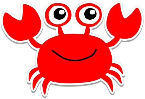 GT Graphics Happy Red Crab Sticker Vinyl safety Waterproof - sale Decal