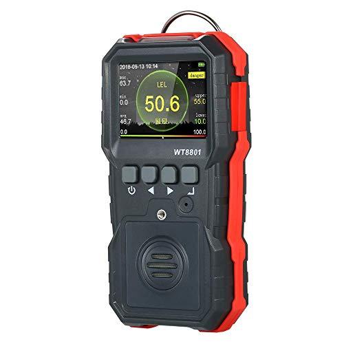 Hyy-yy. Brennbare Gasmonitor, Profi-Gas-Leck-Detektor, High Sensitive Propan Erdgas-Leck Sniffer-Detektor mit Ton Licht Vibrationsalarm for Petroleum Chemical