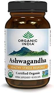 Organic India Ashwagandha, 400 mg, Veg-Capsules, 90 Count
