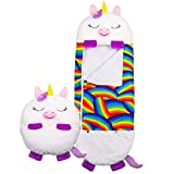 LIUYO Happy Nappers Play Pillow and Sleeping Bag Fun Sleeping Bags for Kids (Unicorn)