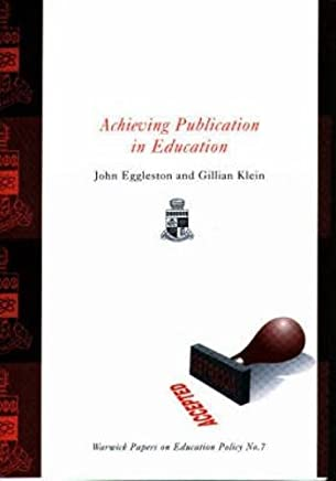 Achieving Publication in Education