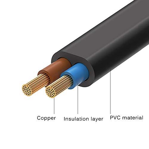 FSKE Câble d'alimentation C7 3 Mètres 2 Broches Euro Fiche vers Figure 8 Cordon d'alimentation pour Samsung Philips LG Sony TV, PS4, PS3, PC Monitor, Imprimante