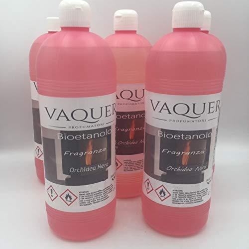 BIOETANOLO COMBUSTIBILE PROFUMATO PER BIOCAMIN O PER CAMINETTI A BIOETANOLO 5 bottiglie da un litro (5) ORCHIDEA NERA